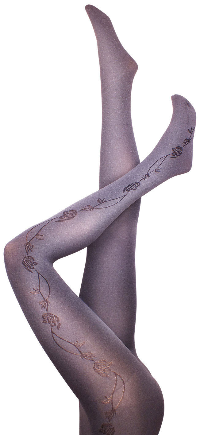 Apple Blossom Grey Tights
