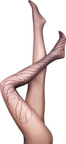 Swiss Swirl  Black Summer Tights