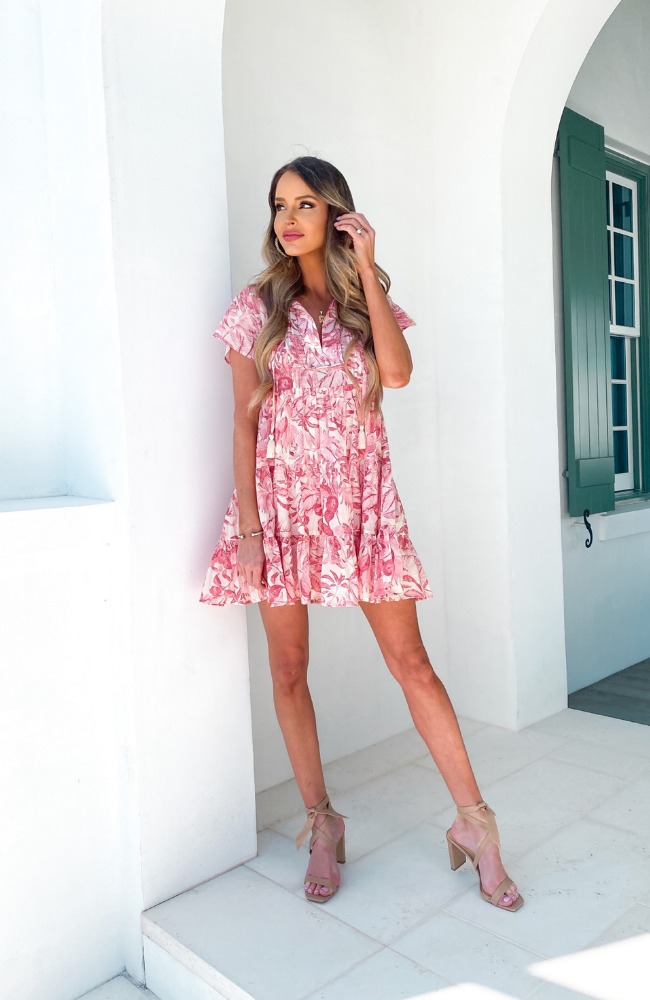 Take Me to the Tropics Babydoll Dress