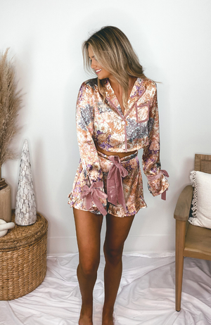 Beach Riot Luna Blouse Harvest Gold Paisley