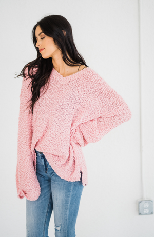 Hug Me Tighter Blush Sweater