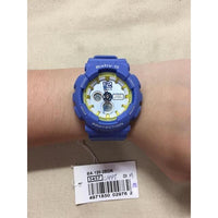 Casio Baby-G BA120 Analog-Digital Navy Blue x Yellow Accents White Dial Watch BA120-2BDR - Diligence1International