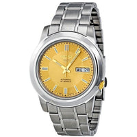 Seiko 5 Classic Men's Size Gold Dial Stainless Steel Strap Watch SNKK13K1 - Diligence1International