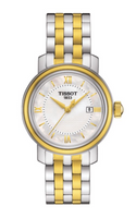 Tissot Swiss Made T-Classic Bridgeport 2 Tone Gold Plated MOP Ladies' Watch T0970102211800 - Diligence1International