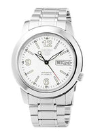 Seiko 5 Classic Men's Size White Dial Stainless Steel Strap Watch SNKE57K1 - Diligence1International
