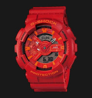 Casio G-Shock GA110 X-Large Special Color Lava Red x Orange Accents Lobster Watch GA110AC-4ADR - Diligence1International