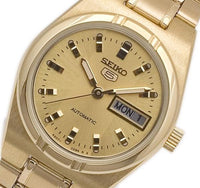 Seiko 5 Classic Ladies Size Gold Dial Gold Plated Stainless Steel Strap Watch SYM600K1 - Diligence1International
