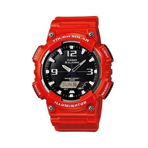 Casio AQ-S810WC-4AVDF Red Solar Powered Watch For Men - Diligence1International