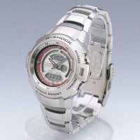 Casio G-Shock Retrograde Cockpit Series Anadigi Stainless Red R White Dial Watch - Diligence1International