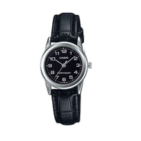 Casio LTP-V001L-1BUDF Black Leather Watch for Women - Diligence1International