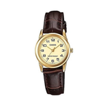 Casio LTP-V001GL-9BUDF Brown Leather Watch for Women - Diligence1International
