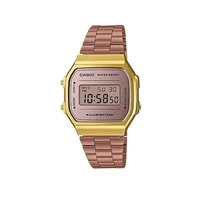 Casio Classic A168WECM-5DF Rose Gold Stainless Steel Digital Watch - Diligence1International