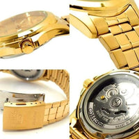 Seiko 5 Classic Mens Size Gold Dial & Plated Stainless Steel Strap Watch SNKK98K1 - Diligence1International