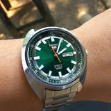 Seiko 5 Sports 100M Green Helmet Turtle Automatic Men's Stainless Steel Watch SRPB13K1