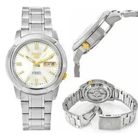 Seiko 5 Classic Men's Size White Dial Stainless Steel Strap Watch SNKK07K1 - Diligence1International