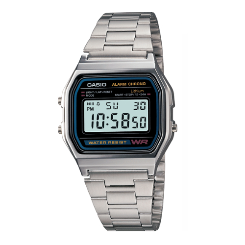 Casio A158WA-1DF Stainless Steel Resin Strap Watch - Diligence1International