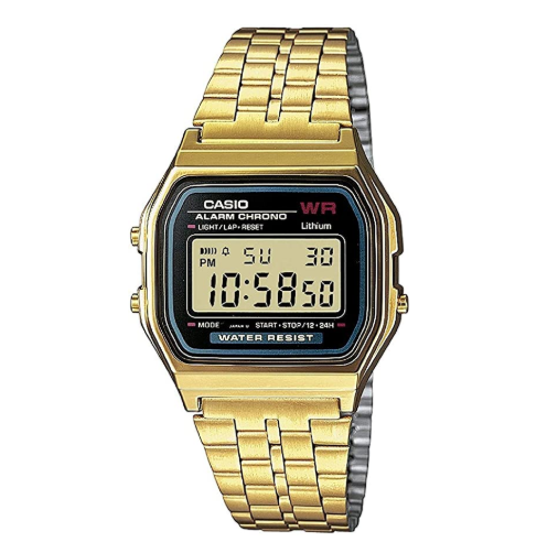 Casio Classic A-159WGEA Retro Digital Gold Watch - Diligence1International