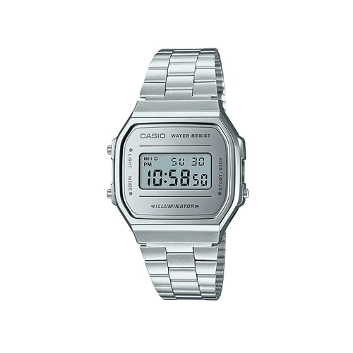 Casio Classic A168WEM-7DF Silver Stainless Digital Watch - Diligence1International