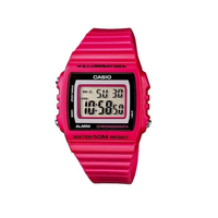 Casio W-215H-4AVDF Pink Resin Strap Watch - Diligence1International
