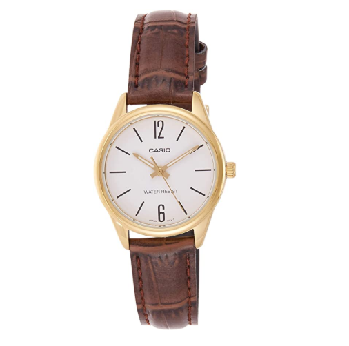 Casio Classic Women's LTP-V005GL Brown Leather Band Watch - Diligence1International