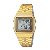 Casio Classic A500WGA-9DF Gold Stainless Steel Digital World Time Watch - Diligence1International