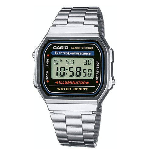 Casio Classic A-168WA Silver Stainless Steel Digital Watch - Diligence1International
