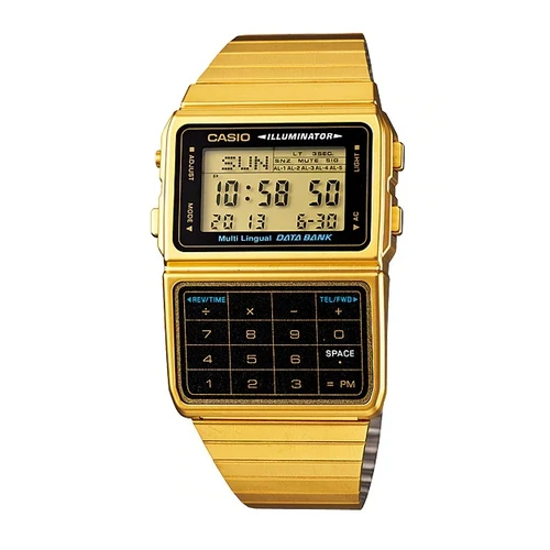 Casio DBC-611G-1DF Gold Plated Calculator Watch For Men and Women - Diligence1International