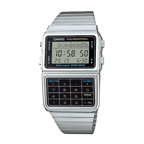 Casio DBC-611-1DF Silver Stainless Calculator Watch for Men and Women - Diligence1International