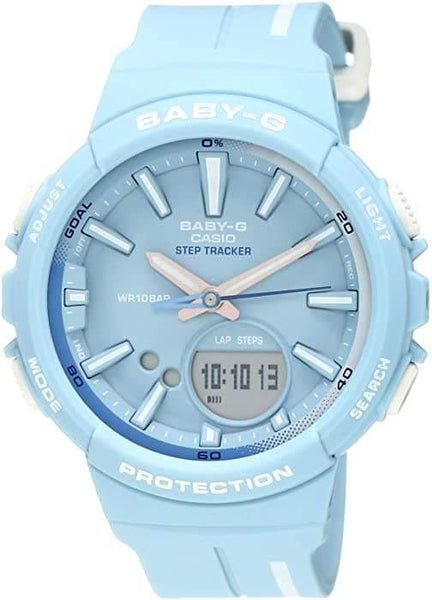 Casio Baby-G BGS Step Tracker Analog-Digital Pastel Sky Blue Watch BGS100RT-2ADR - Diligence1International