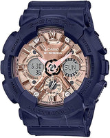 Casio G-Shock Anadigi Rose Gold Metallic Face Ladies' Blue Watch GMAS120MF-2A2DR - Diligence1International