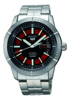Seiko 5 Sports 100M Automatic Men's Watch Black with Red Dial SRP339K1