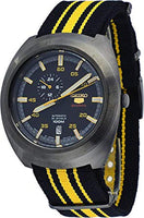 Seiko 5 Sports JAPAN Made 100M 24 Hour Sub-dial Black Helmet Turtle Automatic Men's Nylon Strap Watch SSA289J1 - Diligence1International