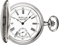 Tissot Swiss Made T-Pocket Savonnette Mechanical White Dial Pocket Watch T83.6.454.13 - Diligence1International