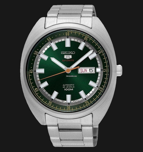 Seiko 5 Sports 100M Green Helmet Turtle Automatic Men's Stainless Steel Watch SRPB13K1 - Diligence1International