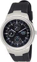 Casio Edifice Analog Black Dial Men's Rubber Strap Watch EF-305-1AV - Diligence1International