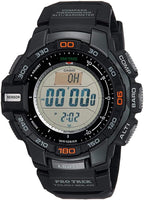 Casio Protrek Solar Powered Triple Sensor Digital Men's Black Resin Watch PRG270-1 - Diligence1International