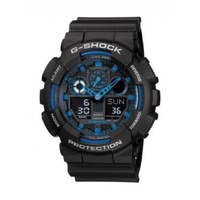 Casio G-Shock Standard Analog Digital Black x Blue Watch GA100-1A2DR - Diligence1International