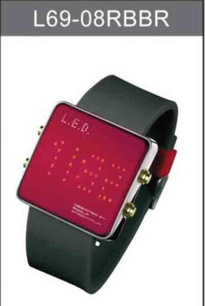 Life Evolution Design Unisex LED Watch L69-08RBBR - Diligence1International
