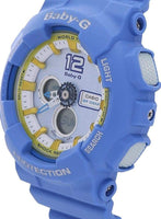 Casio Baby-G BA-120 Analog-Digital Navy Blue x Yellow Accents White Dial Watch BA120-2BDR - Diligence1International