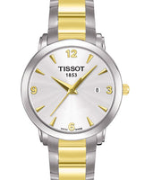 Tissot Swiss Made T-Classic Everytime 2 Tone Gold Plated Ladies' Watch T0572102203700 - Diligence1International