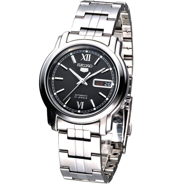 Seiko 5 Classic Men's Size Black Dial Stainless Steel Strap Watch SNKK81K1 - Diligence1International
