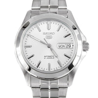 Seiko 5 Classic Men's Size Silver Dial Stainless Steel Strap Watch SNKK87K1 - Diligence1International