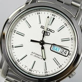 Seiko 5 Classic Men's Size White Dial Stainless Steel Strap Watch SNKL75K1 - Diligence1International