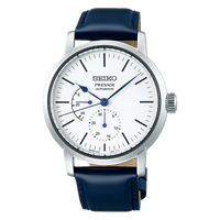 Seiko Presage Mens Watch w/ Pow. Res. Indicator Riki Enamel Collection White SPB161J1 - Diligence1International