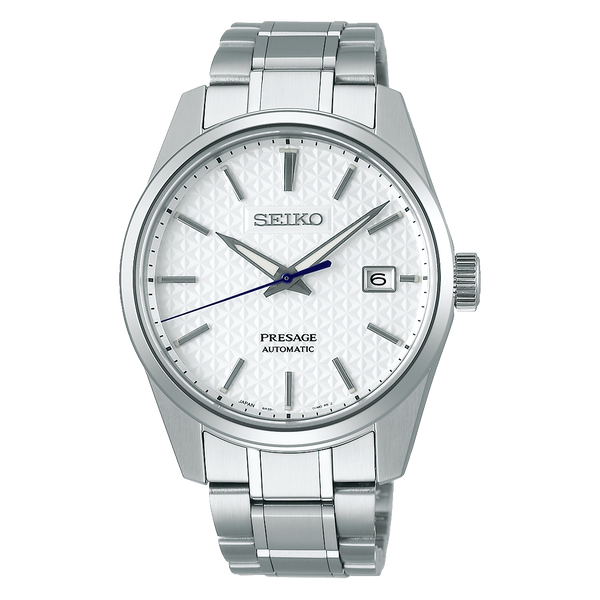 Seiko JAPAN Made Presage Sharp Edged Series Shironeri White Men's Stainless Steel Watch SPB165J1 - Diligence1International