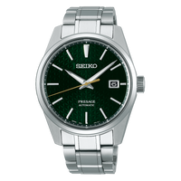 Seiko JAPAN Made Presage Sharp Edged Series Tokiwa Green Men's Stainless Steel Watch SPB169J1 - Diligence1International
