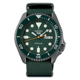 NEW Seiko 5 Sports 100M Automatic Men's Watch Avocado All Green Nylon Strap SRPD77K1 - Diligence1International