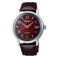 Seiko Presage Cocktail Time The Negroni Red Men's Leather Strap Watch SRPE41J1 - Diligence1International