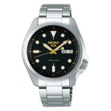 NEW Seiko 5 Sports 100M Automatic Men's Watch Black Dial Gold Accents SRPE57K1 - Diligence1International