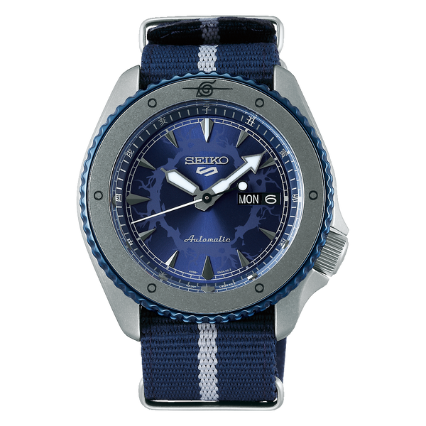 Seiko 5 Sports 100M Naruto LE Sasuke Uchiha Automatic Men's Watch Blue Dial Nylon Strap SRPF69K1 - Diligence1International